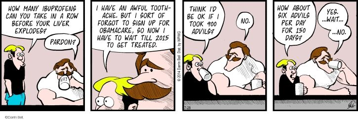 Comic Strip Darrin Bell  Rudy Park 2014-07-28 medical insurance