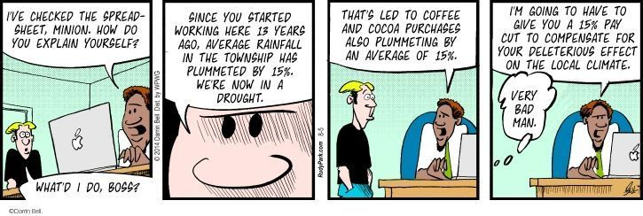 Comic Strip Darrin Bell  Rudy Park 2014-08-05 decline