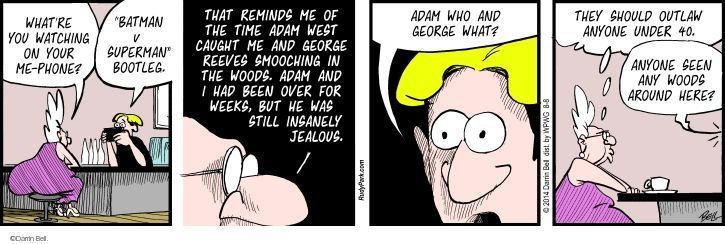Comic Strip Darrin Bell  Rudy Park 2014-08-08 television cartoon