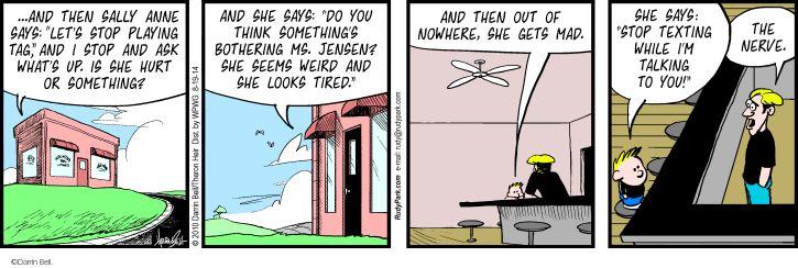 Comic Strip Darrin Bell  Rudy Park 2014-08-19 argument