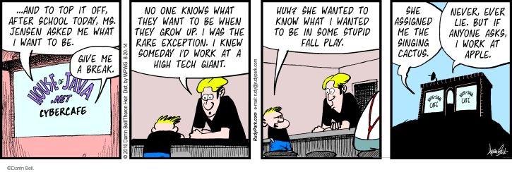 Comic Strip Darrin Bell  Rudy Park 2014-08-20 cybercafe