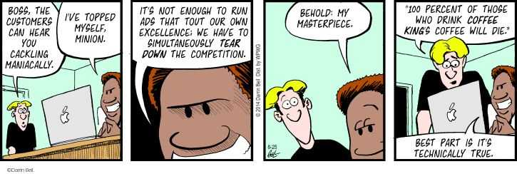 Comic Strip Darrin Bell  Rudy Park 2014-08-25 laugh