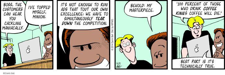 Comic Strip Darrin Bell  Rudy Park 2014-08-25 entrepreneurial