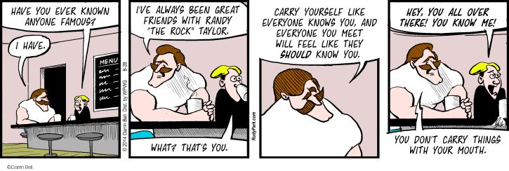 Comic Strip Darrin Bell  Rudy Park 2014-08-28 confidence