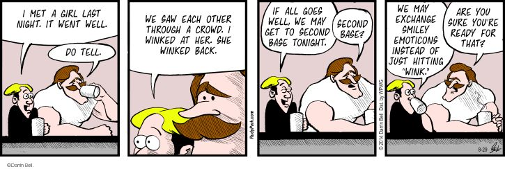 Comic Strip Darrin Bell  Rudy Park 2014-08-29 communicate