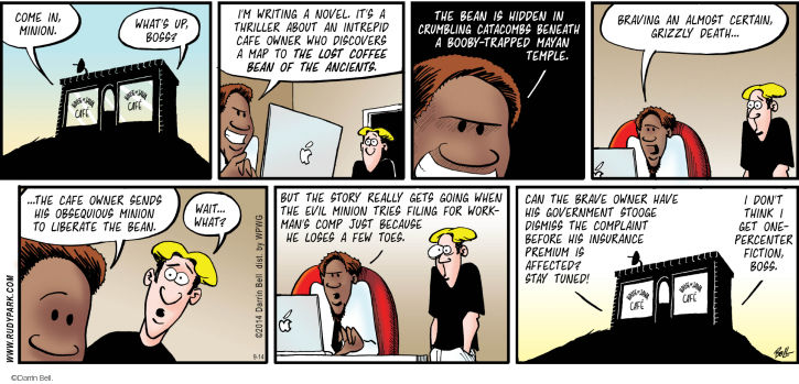 Comic Strip Darrin Bell  Rudy Park 2014-09-14 wealthy