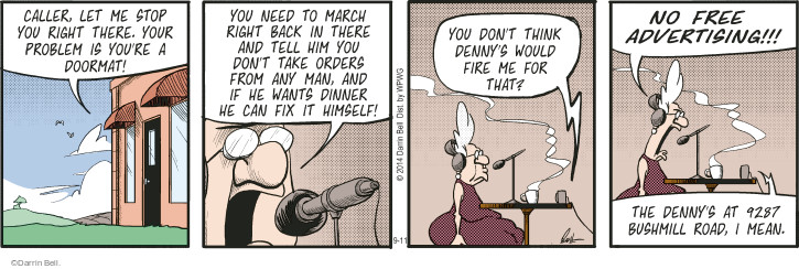 Comic Strip Darrin Bell  Rudy Park 2014-09-11 confidence