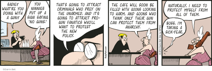 Comic Strip Darrin Bell  Rudy Park 2014-09-16 protection