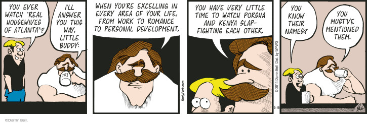 Comic Strip Darrin Bell  Rudy Park 2014-09-18 life