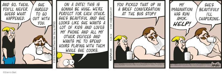 Comic Strip Darrin Bell  Rudy Park 2014-09-24 phone conversation