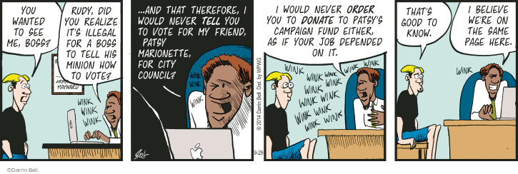 Comic Strip Darrin Bell  Rudy Park 2014-09-29 therefore