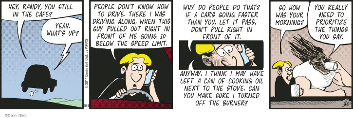 Comic Strip Darrin Bell  Rudy Park 2014-10-09 priority