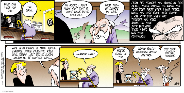 Comic Strip Darrin Bell  Rudy Park 2014-11-02 father