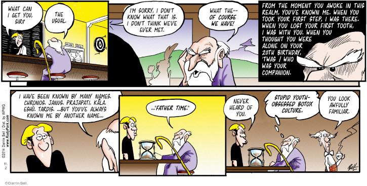 Comic Strip Darrin Bell  Rudy Park 2014-11-02 'twas