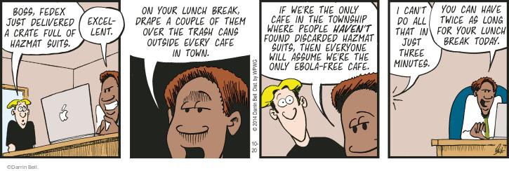Comic Strip Darrin Bell  Rudy Park 2014-10-20 garbage