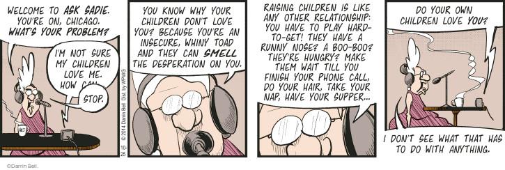 Comic Strip Darrin Bell  Rudy Park 2014-10-25 make