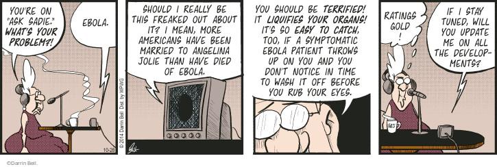 Comic Strip Darrin Bell  Rudy Park 2014-10-28 wash