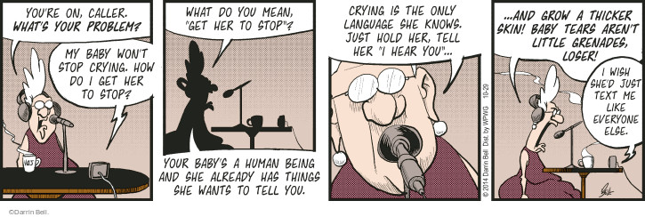 Comic Strip Darrin Bell  Rudy Park 2014-10-29 cry