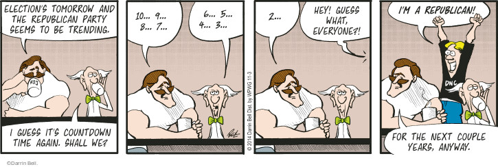 Comic Strip Darrin Bell  Rudy Park 2014-11-03 midterm election