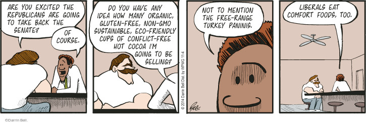 Comic Strip Darrin Bell  Rudy Park 2014-11-04 conflict