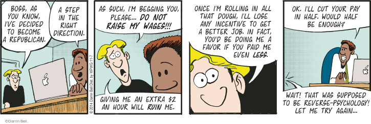 Comic Strip Darrin Bell  Rudy Park 2014-11-07 lose