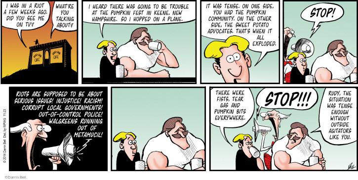 Cartoonist Darrin Bell  Rudy Park 2014-11-23 stop it