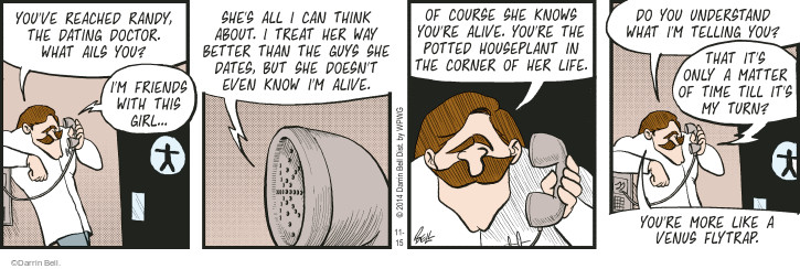 Comic Strip Darrin Bell  Rudy Park 2014-11-15 houseplant
