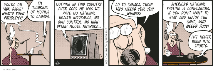 Comic Strip Darrin Bell  Rudy Park 2014-11-17 country