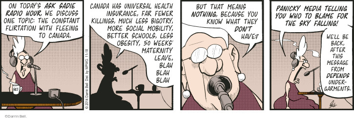 Comic Strip Darrin Bell  Rudy Park 2014-11-18 country