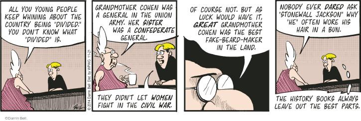 Cartoonist Darrin Bell  Rudy Park 2014-11-21 American History