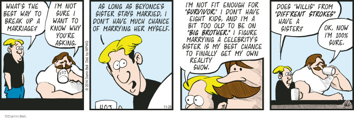 Comic Strip Darrin Bell  Rudy Park 2014-11-26 marriage