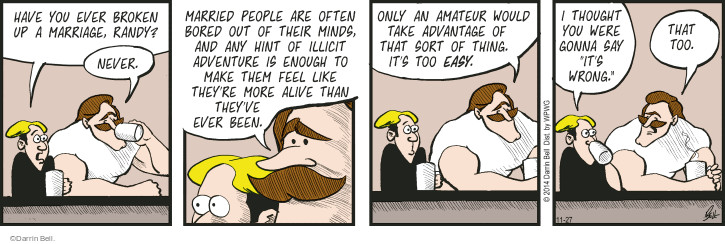 Comic Strip Darrin Bell  Rudy Park 2014-11-27 marriage