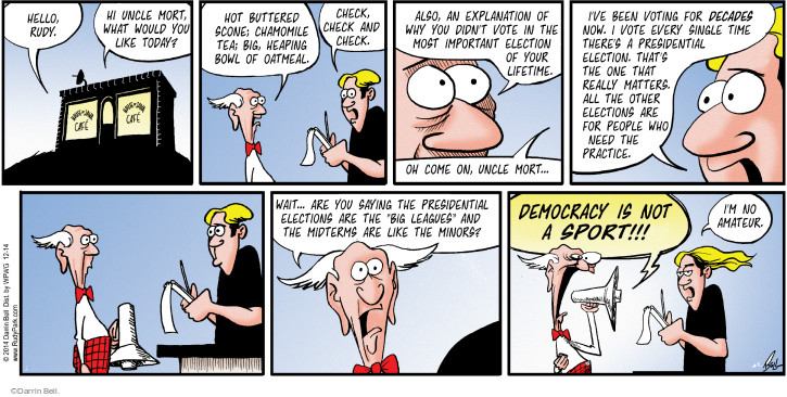 Comic Strip Darrin Bell  Rudy Park 2014-12-14 wouldn't