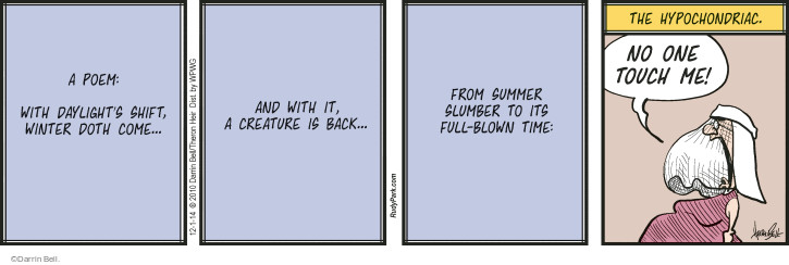 Comic Strip Darrin Bell  Rudy Park 2014-12-01 summer