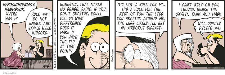 Cartoonist Darrin Bell  Rudy Park 2014-12-04 contagious