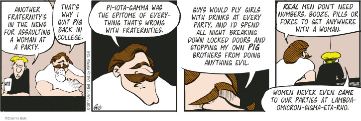 Comic Strip Darrin Bell  Rudy Park 2014-12-08 number