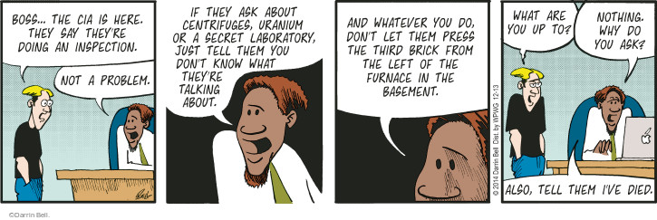 Comic Strip Darrin Bell  Rudy Park 2014-12-13 laboratory