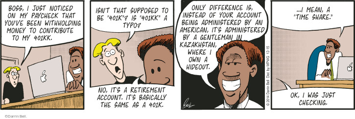Comic Strip Darrin Bell  Rudy Park 2014-12-15 administration