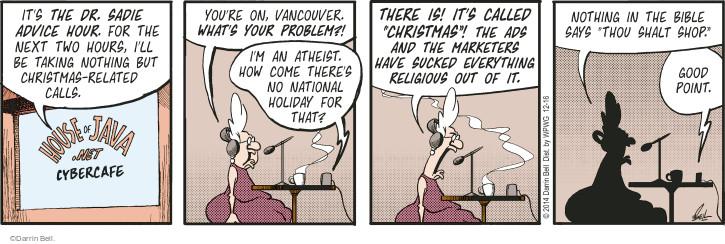 Cartoonist Darrin Bell  Rudy Park 2014-12-16 good advice