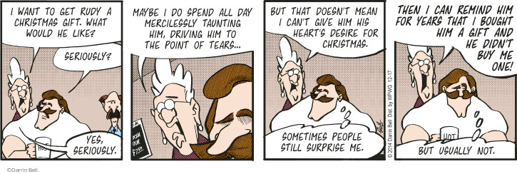 Comic Strip Darrin Bell  Rudy Park 2014-12-17 tear