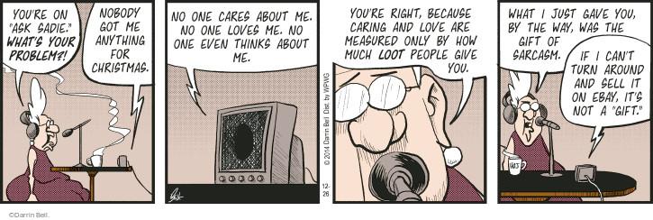 Comic Strip Darrin Bell  Rudy Park 2014-12-26 sarcasm