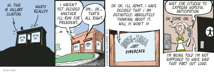Comic Strip Darrin Bell  Rudy Park 2014-12-29 hopeful