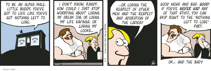Comic Strip Darrin Bell  Rudy Park 2014-12-30 lose