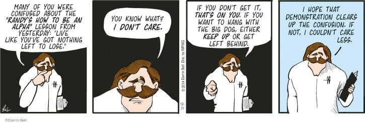 Comic Strip Darrin Bell  Rudy Park 2014-12-31 don't