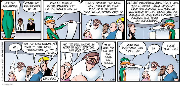 Comic Strip Darrin Bell  Rudy Park 2015-01-18 movie sequel
