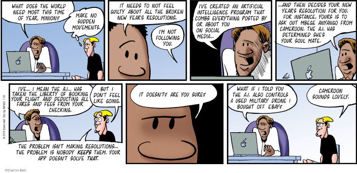 Comic Strip Darrin Bell  Rudy Park 2015-01-25 software