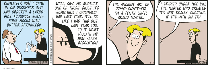 Comic Strip Darrin Bell  Rudy Park 2015-01-13 December