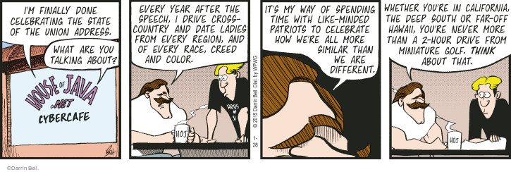 Cartoonist Darrin Bell  Rudy Park 2015-01-28 color