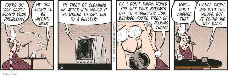 Comic Strip Darrin Bell  Rudy Park 2015-01-29 cleaning