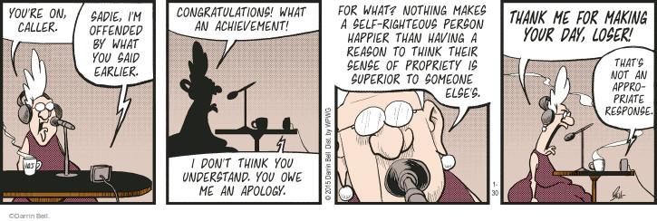 Comic Strip Darrin Bell  Rudy Park 2015-01-30 don't